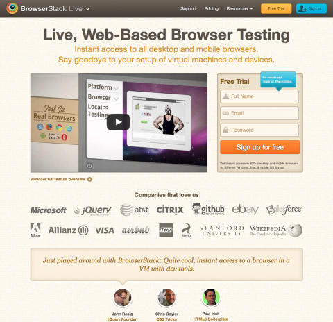 Browserstack helps you test your site in all browsers